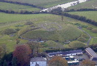 Aerial view of Knowth