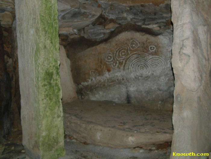 Standing Stone in Loughcrew Cairn L