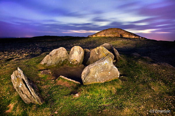 Loughcrew Cairns V and T by Steve Emerson