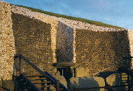 Winter solstice sun illuminates the passage at Newgrange on the December 22nd 2001