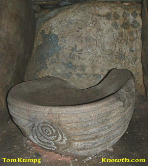 Basin Stone in Eastern Chamber