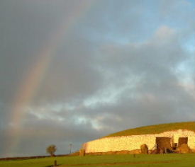 Rainbow at Newgrange Winter Solstice